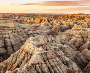 Sunrise at Badlands National Park