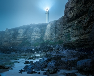 Split Point Lighthouse in Fog