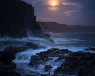 Moonrise over Cape Schanck